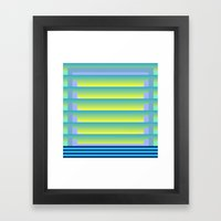 GradientGlitch v.3 Framed Art Print