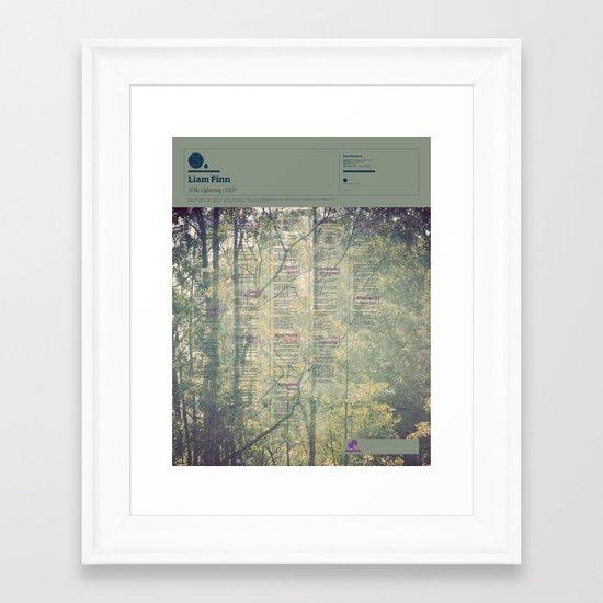 The Visual Mixtape 2010   I'll Be Lightning   15 / 25 Framed Art Print