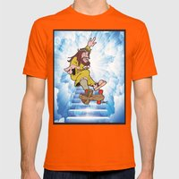 Hey Zuse Kick Flip That … Mens Fitted Tee Orange SMALL