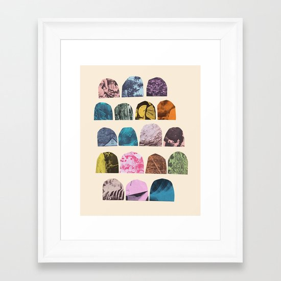 EIGHTEEN GRAVES Framed Art Print
