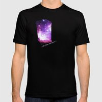 All of time and space - The Tardis Mens Fitted Tee Black SMALL