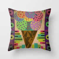 Fancy Ice Cream Throw Pillow