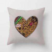 mini heart Throw Pillow
