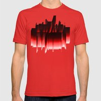 Color Mens Fitted Tee Red SMALL