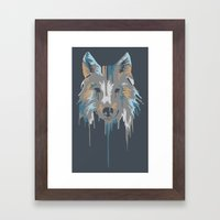 Painted Wolf Framed Art Print