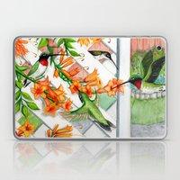 Hummingbirds and Trumpet Vines Laptop & iPad Skin