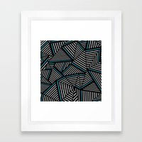 Ab Linear Inverted with Electric Framed Art Print