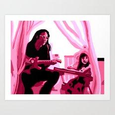 Eric Alper and daughter Art Print