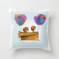 Throw Pillow featuring UP Pixar— Love Is Th… by Ciara Panacchia