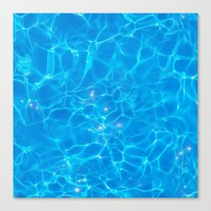Pool Water Texture with Sunlight Reflections Canvas Print
