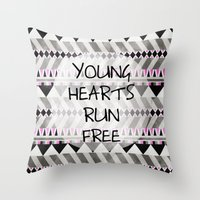 Young Hearts Throw Pillow