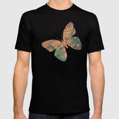 Mellow Meadow SMALL Black Mens Fitted Tee