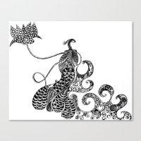 Peacock Love Canvas Print