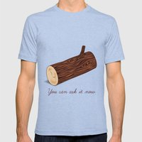 You Can Ask It Now (The Log Lady's Log) Mens Fitted Tee Tri-Blue SMALL