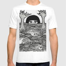 Voyeur SMALL White Mens Fitted Tee