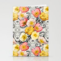 Collage of Poppies and Pattern Stationery Cards