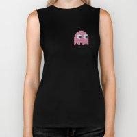 Pac-Man Pink Ghost Biker Tank