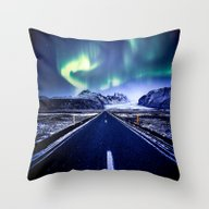 Road To Aurora  Throw Pillow