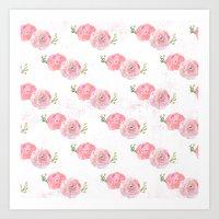 Pink Watercolor Floral Print