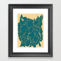 Blue Number 1 Framed Art Print