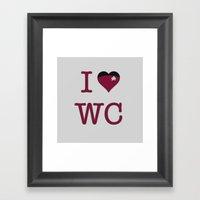 I Heart Wesley Crusher Framed Art Print