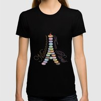 Macarons from Paris Womens Fitted Tee Black SMALL