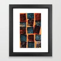Press Print and Digital Pattern Print Framed Art Print