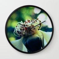 Disheveled flower Wall Clock