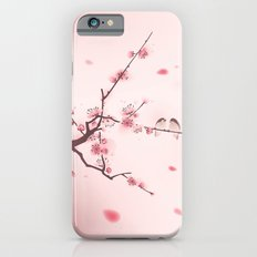 Oriental style painting, cherry blossom in spring iPhone 6 Slim Case