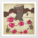 Apples and Tree Trunks Are Best Friends Art Print