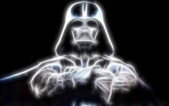 Darth Vader Electric Ghost Canvas Print