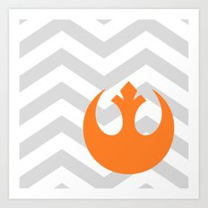 Star Wars Rebel Alliance Chevrons Art Print