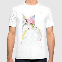 Cat / March Mens Fitted Tee White SMALL
