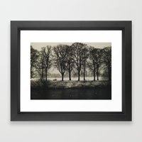 White Winter Framed Art Print