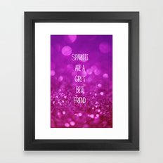 Sparkles are a Girl's Best Friend Framed Art Print