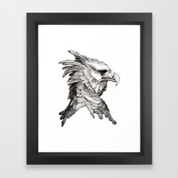 Hawk Profile  Framed Art Print