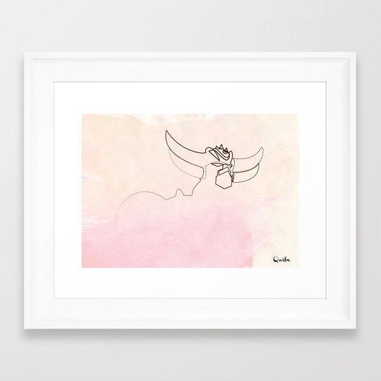One line Goldorak/Grendizer Framed Art Print