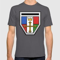 Voltron Chest Shield  Mens Fitted Tee Asphalt SMALL