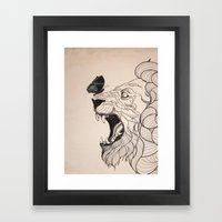 Rage - Portrait Framed Art Print