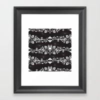 Fleur De Crâne Framed Art Print