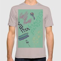 collage Mens Fitted Tee Cinder SMALL