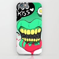 iPhone & iPod Case featuring Kiss kiss by derekpants