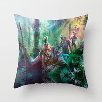 Into The Wilds Throw Pillow
