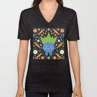 Unisex V-Neck featuring Oddish  by Carly Watts