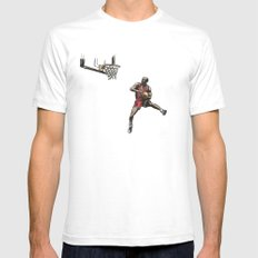 MJ50 SMALL White Mens Fitted Tee