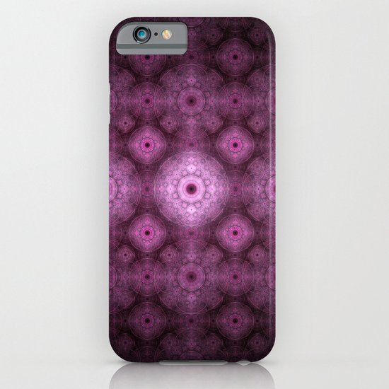 Pink Fractal Pattern iPhone & iPod Case