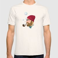 Soap bubble Hipster Mens Fitted Tee Natural SMALL