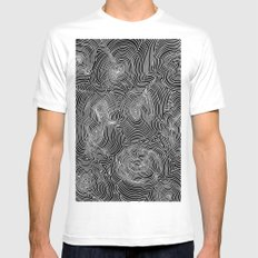 Inverse Contours White Mens Fitted Tee SMALL