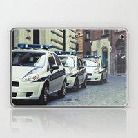 Police Cars In Rome Laptop & iPad Skin