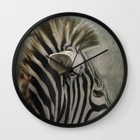 The striped Mohican Wall Clock
